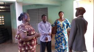 L'équipe du RODEB avec la Directrice du CEEP