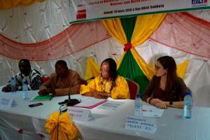 La cérémonie a été présidé par la conseillère technique du Ministre de l'Education Nationale et de l'Alphabétisation, Katherine Kaboré
