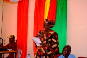 Aminata HIEN/FOFANA, chef de file EB, prononçant son message de plaidoyer!